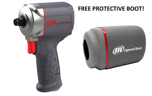 """Ingersoll Rand 15QMAX 3/8"""" Drive Quiet Stubby Impact Gun Wrench With Free Boot!"""