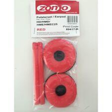ZOMO HD 25 RED kit spugne/cuscinetti ricambio per cuffie Sennheiser HD-25 NUOVO