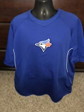 TORONTO BLUEJAYS MLB MAJESTIC PULLOVER THERMA BASE 2XL Short Sleeve PULLOVER