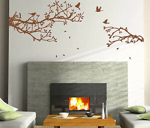 Tree Branch & Birds Wall Art Vinyl Wall Sticker, DIY Wall Decal- HIGH QUALITY