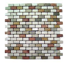 Rosone rosoni incollati su rete piastrelle in marmo 30,5x30,5 con tessere 1,4x3