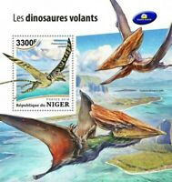Niger - 2018 Flying Dinosaurs - Stamp Souvenir Sheet - NG18513b