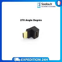 Adaptateur coudé raccord 270 degrés HDMI Coude mâle – femelle