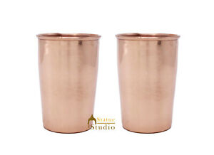 Copper Glass with Gift Box Tumbler Drinking Mug For Home Decor gift Box of 2 pcs