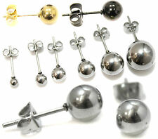Mens Earrings  Small Big Stainless Steel Ball Ear Upper Studs Butterfly Womens