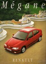Renault Megane Hatchback 1996-97 UK Market 52pp Sales Brochure RXE RT RN
