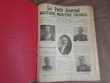 LE PETIT JOURNAL Militaire Maritime Colonial RELIURE 1903 TETE DE COLLECTION