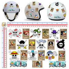 adesivi casco teschietti one piece sticker helmet tuning skull wanted 21 pz.