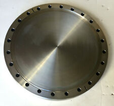"""New listing Mdc 10"""" Blank Vacuum Flange, Stainless 24 hole"""