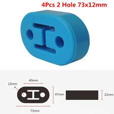 4Pc/Set Polyurethane Rubber Car SUV 2 Hole Exhaust Muffler Hanger Blue Universal