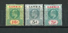 Brit. Kronkolonie Gambio 36, 46 + 48, ungebrauct *, 47,00 M€