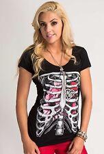 Metal Mulisha Ladies Caged Tee Size XS