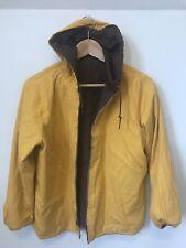 Vtg 1950's Reversible Rain Coat Jacket Rockabilly Sportswear Metal Zipper Cotton