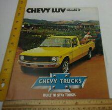 Chevrolet Chevy Luv Series 9 Trucks 1979 car brochure magazine C65 options