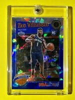Zion Williamson BLUE CRACKED ICE PRIZM ROOKIE PREMIUM STOCK 2019-20 NBA HOOPS RC