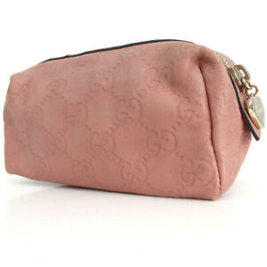 Authentic GUCCI 153228.2888 GG pattern pouch Pouch leather[Used]