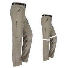 Mens Convertible Quick Dry Zip Off  Pants Shorts Fishing Hiking Cargo Trousers