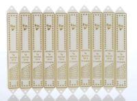 Lot of 10 Plastic Mezuzah 12cm Mezuza Case White & Silver Judaica Jewish Design