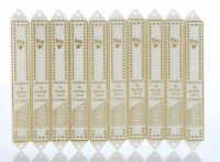 MZ03 Lot 10 Plastic Mezuzah 12cm Mezuza Case White & Silver Jewish Design kosher