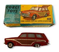 Corgi 491 Ford Consul Cortina Super Estate with Original Box Diecast Toy Car (e