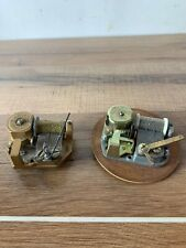 2 Vintage Music Box Mechanism