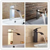 Single Handle Waterfall Spout Bath Basin Sink Faucet Mixer Tap Waterfall Spout