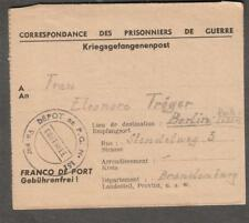 France 1947 post WWII Prisoners of War cover Depot PGN 151 to Brandenburg