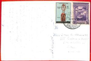aa3955  - Portuguese India - POSTAL HISTORY - POSTCARD from SALIGAO 1954