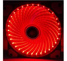 Needcool GI 3 PIN 120 mm 12 cm Rosso 32 luci a LED ultra silenziosa ventola per Custodia Telaio