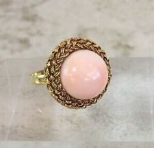 Vintage C: 1940 Natural Angel Skin Coral and 18KYG Ring