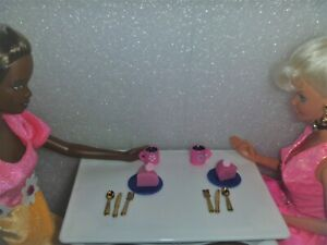 10 Pc. Miniature Set For  Barbie & Friend Coffee and Cake~*~Or Curio Display