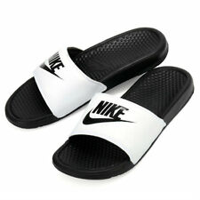 232402f26518 Nike Benassi JDI Men s Slide White  Black Slipper 343880-100 Free Shipping