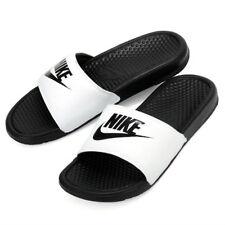 910590f7659aa Nike Benassi JDI Men s Slide White  Black Slipper 343880-100 Free Shipping