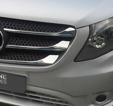 CHROME GRILLE TRIM ACCENTS COVERS STRIPS MERCEDES BENZ VITO W447 2014+