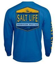 Salt Life Beeracuda Pale Ale Men's Long Sleeve Graphic T-Shirt- 2XL/XL/L NWT
