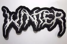 WINTER  SHAPED  WHITE LOGO EMBROIDERED PATCH