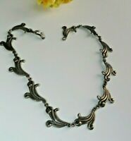 Vintage Sterling Silver NECKLACE Jewelry Mexico #108 (VT60)