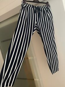 Zara Drawstring Striped Trousers (Large)