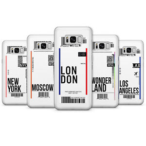 Boarding pass phone Cases Plane ticket Covers flight London label Samsung A20e