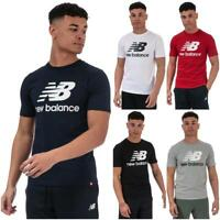 Mens New Balance Essentials Stacked Logo T-Shirt in Navy/Red/White/Grey/Black