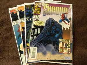 1994 MARVEL Comics THE SHROUD #1-4 Complete Series Set - SPIDER-MAN - FN/VF