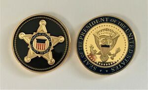 Secret Service Presidential Challenge Coin POTUS Trump Obama VP Biden Kamala