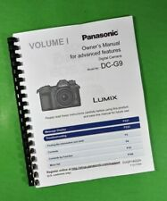 Panasonic DC-G9 Advanced Camera 341 Page Laser Printed Owners Manual Guide
