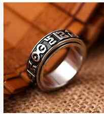 20mm six words mantra ring titanium steel fashion jewelry