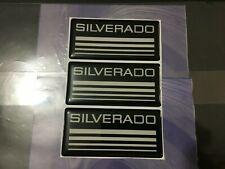 3x New Custom Epoxy Resin Silverado Emblem Pillar Cab Badge