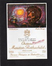 PAUILLAC 1EGCC ETIQUETTE CHATEAU MOUTON ROTHSCHILD1998 37.5 CL DECOREE§01/04/17§