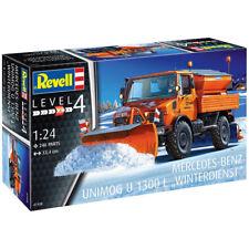 "REVELL Unimog U1300L ""Winter Service"" 1:24 Truck Model Kit 07438"