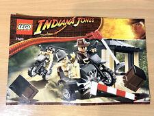 Lego 7629 Manual De Instrucciones Solo Indiana Jones Motocicleta Chase