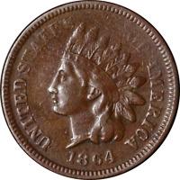 1864-'L' Indian Cent F/VF Details Decent Eye Appeal Nice Strike