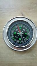 Outdoor Hiking Camping Portable Round Dial Sensitive Compass Silver Tone